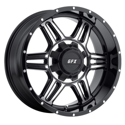 G-FX Wheels TR6 - Gloss Black Machined Face Rim