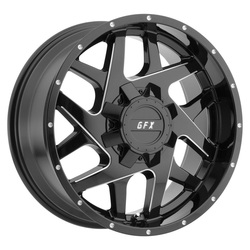 G-FX Wheels TR-Mesh2 - Gloss Black Milled Rim - 18x9