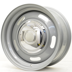 Hot Rod Hanks Wheels 55 Rally - Silver With Cap Rim - 15x5