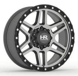 Hardrock Offroad Wheels H103 - Matte Machine-Black Beadlock - 17x9