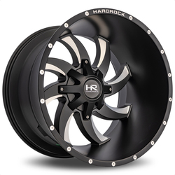 Hardrock Offroad Wheels Devious - Satin Black Milled Rim