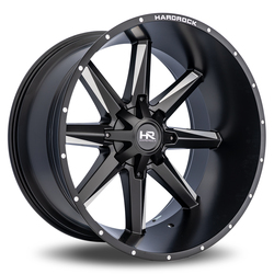 Hardrock Offroad Wheels Hardcore - Satin Black Milled Rim