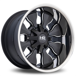 Hardrock Offroad Wheels Insane - Satin Black Milled Stainless Steel Lip