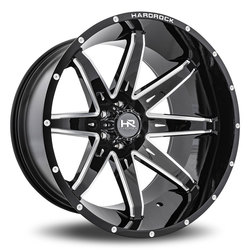 Hardrock Offroad Wheels PainKiller Xposed - Gloss Black Milled Rim
