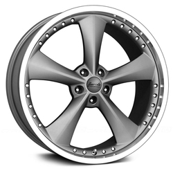 Bravado Wheels Americana II - Matte Graphite/Gloss Machined Lip - 22x11