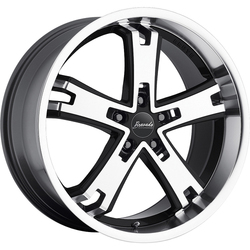 Bravado Wheels Brute - Gloss Black W/ Machined Face - 20x11