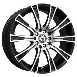 Konig Wheels Crown - Gloss Black / Machined Face