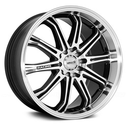 Maxxim Wheels Ferris - Gloss Black w/Machine Face Rim - 17x7