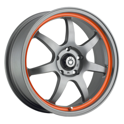 Konig Wheels Forward - Matte Grey/Orange Stripe