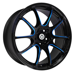 Konig Wheels Illusion - Black/Ball Cut Blue