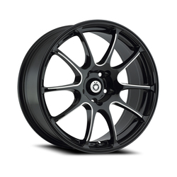 Konig Wheels Illusion - Black/Ball Cut Machine Rim - 15x6.5