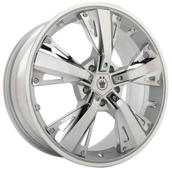 Konig Wheels Changeup - Silver/Chrome Rim