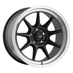 Konig Wheels Countergram - Matte Black / Matte Machined Lip Rim - 15x7.5