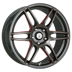 Konig Wheels Deception - Matte Black/Ball Cut Red