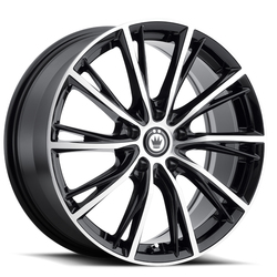 Konig Wheels Impression - Gloss Black w/Machined Face