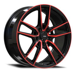 Myth - Gloss Black/Red Tint Clearcoat - 17x8