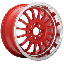 Konig Wheels Konig Wheels Retrack - Red Machine Lip - 16x7