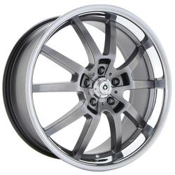 Konig Wheels Stampede - RaceGrey/Stainless Lip