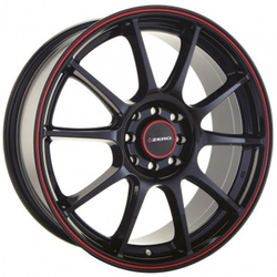 Konig Wheels ZR - Gloss Black w/ Red Stripe