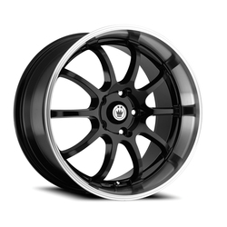 Konig Wheels Lightning - Black/Machine Lip Rim