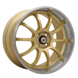 Konig Wheels Lightning - Gold/Machine Lip