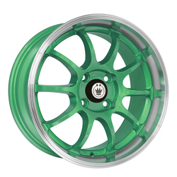 Konig Wheels Lightning - Green/Machine Lip