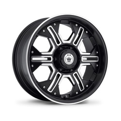 Konig Wheels Locknload - Matte Black/Ball Cut Machine
