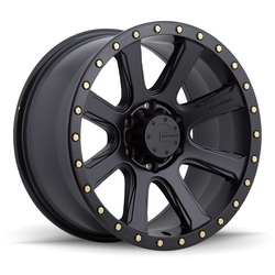 M16 - Matte Black w/Bolts - 18x9
