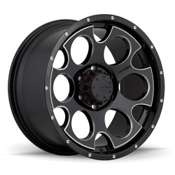 Mamba Wheels M17 - Gloss Black w/Machined Accents & Drill Holes Rim - 16x8