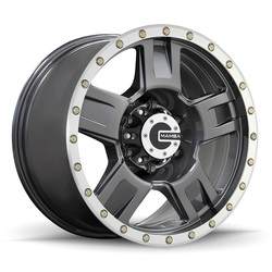 Mamba Wheels M18 - Matte Graphite w/Machine Bead Lip & Bolts Rim - 18x9