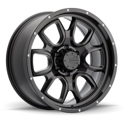 Mamba Wheels M19 - Matte Black / Drill Holes Rim - 18x9