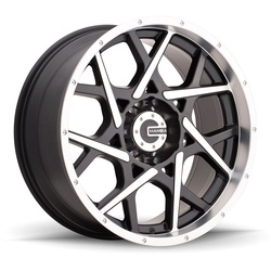 Mamba Wheels Mamba Wheels M20 - Gloss Black/Machined - 17x9