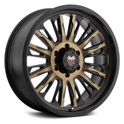 Mamba Wheels Mamba Wheels M21 - Black / Bronze Face - 17x9
