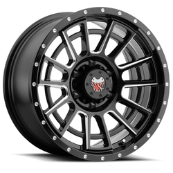 Mamba Wheels M22 - Matte Black/Machined Ball Cut Rim - 18x9