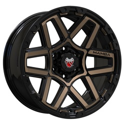 Mamba Wheels M23 - Matte Black/Bronze Face Rim - 18x9