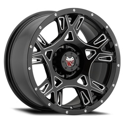 Mamba Wheels M24 - Gloss Black/Ball Cut Accents - 22x12