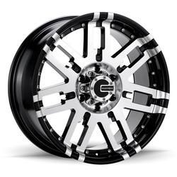Mamba Wheels M2X - Gloss Black Machined Rim - 18x9