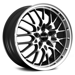 Maxxim Wheels Chance - Gloss Black w/Machine Lip & Face Rim - 15x6.5