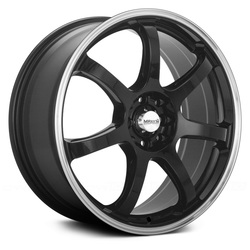 Maxxim Wheels Knight - Gloss Black w/Machine Lip Rim - 16x7