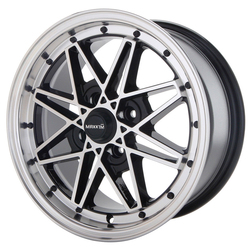 Maxxim Wheels Screech - Black/Machine Face Rim - 15x7