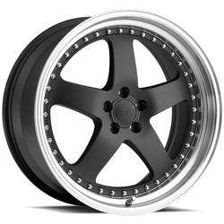 Privat Wheels Legende - Matte Graphite/Machine Lip - 19x9.5