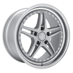 Privat Wheels Rivale - Silver/Machine Lip - 18x8.5