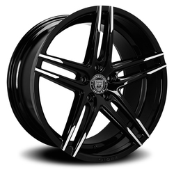 Lexani Wheels Bremen - Blk w/Machined Tips