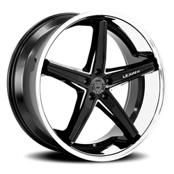 Lexani Wheels Fiorano - Gloss Black w/CNC Groove w/SS Lip