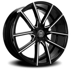 Lexani Wheels Gravity - Blk w/CNC Groove Rim - 24x9