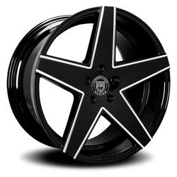Lexani Wheels Mainz - Blk w/CNC Groove Rim