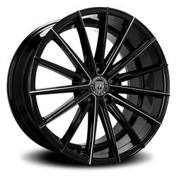 Lexani Wheels Pegasus - Blk w/CNC Groove Rim