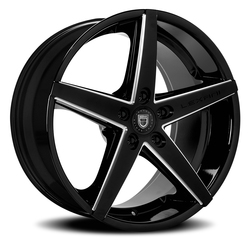 Lexani Wheels R-Four - Blk w/CNC Groove Rim