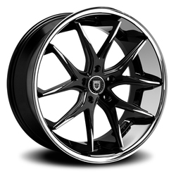 Lexani Wheels R-Twelve - Gloss Black Machined Face W/SS Lip