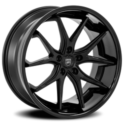 Lexani Wheels R-Twelve - Satin Black W/Gloss Black SS Lip